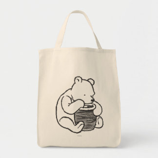 Bosquejo Winnie the Pooh 3 Bolsa Tela Para La Compra