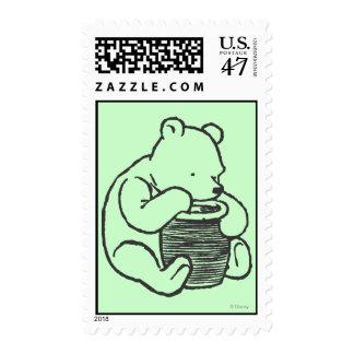 Bosquejo Winnie the Pooh 3 Estampillas