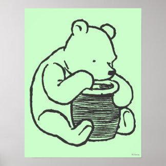 Bosquejo Winnie the Pooh 3 Póster
