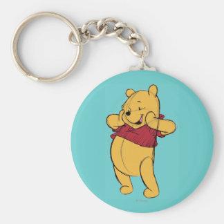 Bosquejo Winnie the Pooh Llavero Redondo Tipo Pin