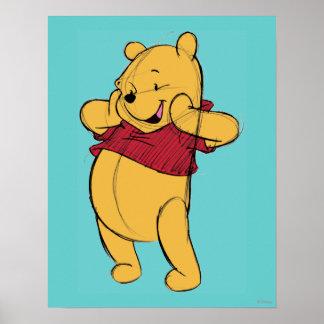 Bosquejo Winnie the Pooh Póster
