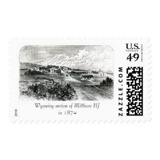 Bosquejo Wyoming de la antigüedad 1874 en el sello