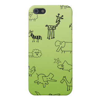 Bosquejos animales iPhone 5 protector