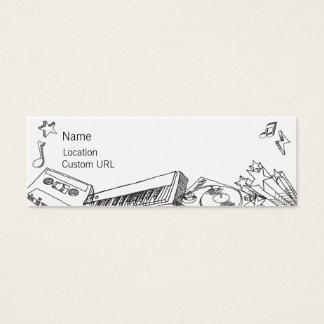 Bosquejos - blancos y negros tarjetas de visita mini