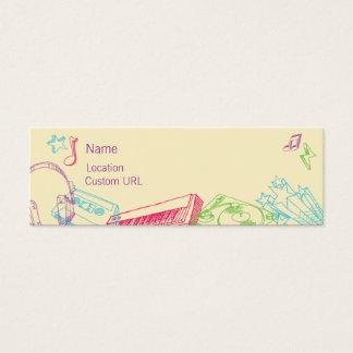 Bosquejos - colores tarjetas de visita mini