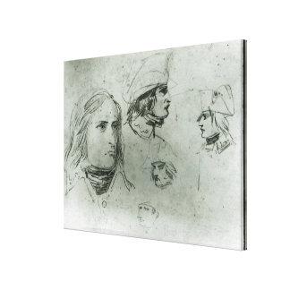 Bosquejos de Napoleon Bonaparte, 1797 Impresiones En Lona Estiradas