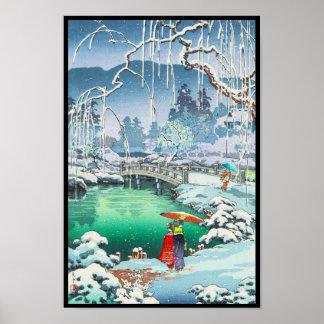 Bosquejos de Tsuchiya Koitsu de lugares famosos en Impresiones