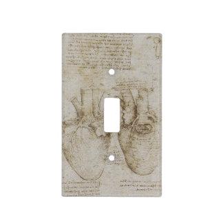 Bosquejos humanos de la anatomía del corazón de da