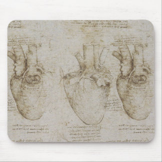 Bosquejos humanos de la anatomía del corazón de da alfombrillas de ratones