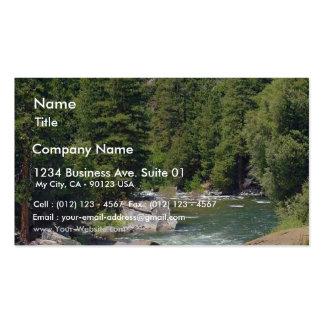 Bosques de los árboles de las corrientes de los rí plantillas de tarjetas de visita