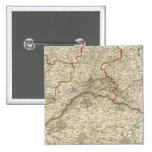 Bosques y caminos de Francia Pin Cuadrado