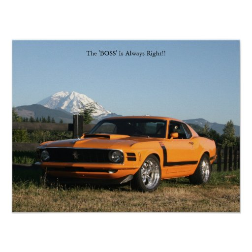 Boss 302, The 'BOSS' Is Always Right!! Poster