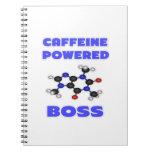 Boss accionado cafeína libreta
