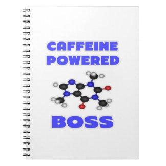 Boss accionado cafeína libro de apuntes con espiral