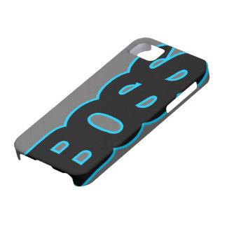 BOSS azul de neón iPhone 5 Fundas