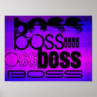 Boss; Azul violeta y magenta vibrantes Póster