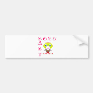 Boss Baby-Cute Monkey-Morocko Bumper Sticker