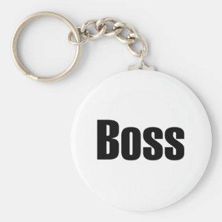 Boss Basic Round Button Keychain