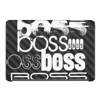 Boss; Black & Dark Gray Stripes iPad Mini Retina Covers