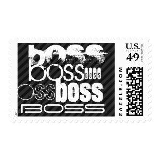 Boss; Black & Dark Gray Stripes Postage