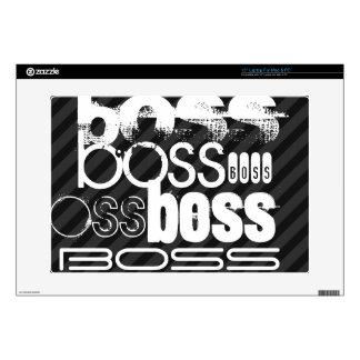 Boss; Black & Dark Gray Stripes Skin For Laptop