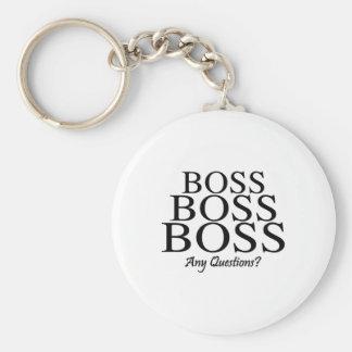 Boss Boss Boss, Any Questions? Keychain