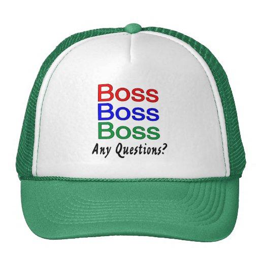 Boss Boss Boss Gorros Bordados