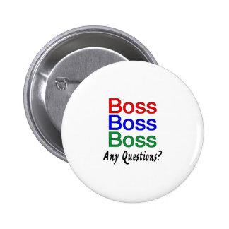 Boss Boss Boss Pin Redondo De 2 Pulgadas