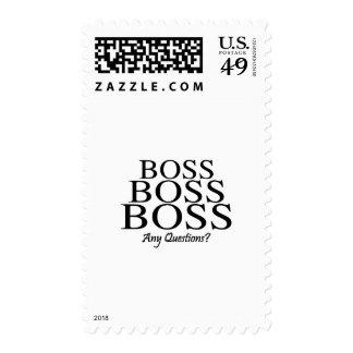 ¿Boss Boss Boss, preguntas? Sellos