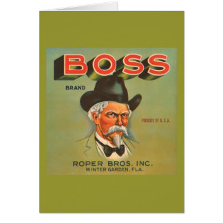Boss Brand Produce Vintage Ad Card
