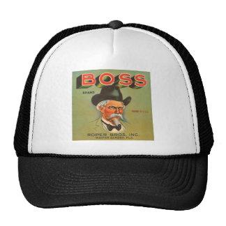 Boss Brand Produce Vintage Ad Trucker Hat