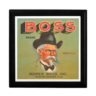Boss Brand Roper Bros, Inc. VIntage Crate Label Gift Box