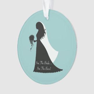Boss Bride (teal) Ornament