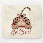 Boss Cat Mouse Pad
