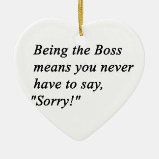 Boss Ceramic Ornament