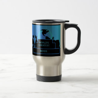 Boss Cheering World's Greatest Blue Mug