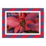 Boss Christmas Card -- Red Poinsettia