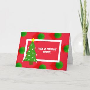 Boss holiday cards custom holiday cards zazzle boss christmas card m4hsunfo