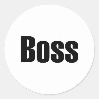 Boss Classic Round Sticker