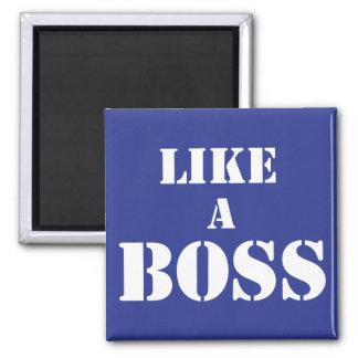 Boss corporativo imán cuadrado
