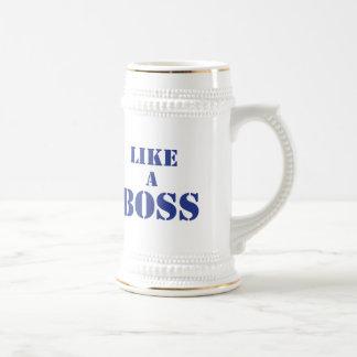 Boss corporativo jarra de cerveza