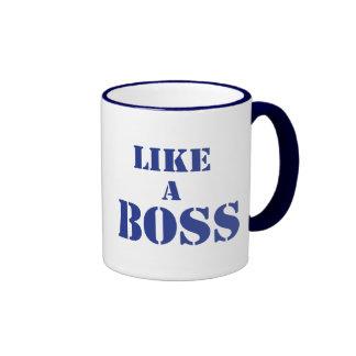 Boss corporativo taza de dos colores