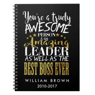 BOSS DAY, Boss Week, Boss gift, BOSS Notebook