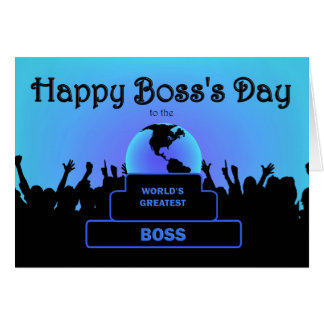 Boss Day Greatest  Cheers Blue Card