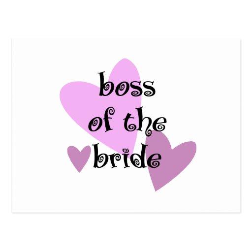 Boss de la novia tarjetas postales