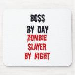Boss del asesino del zombi del día por noche tapete de ratón