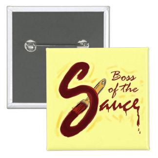 Boss del botón de la salsa pin cuadrado