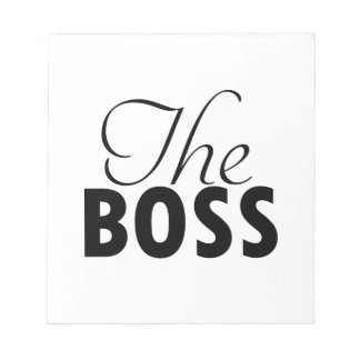 boss  designs notepad