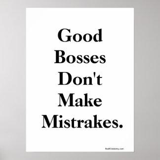 Boss divertido cita erroneamente y las palabras in póster
