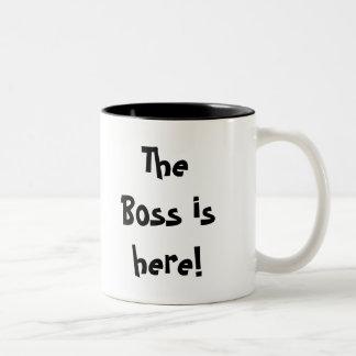 ¡Boss está aquí! ¡, Prisa! ¡, Oculte la taza! Taza De Café De Dos Colores